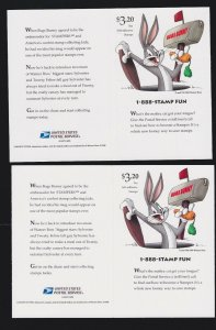 US 3204-3205 & FDI Sylvester and Tweety Souvenir Sheet w/Cancel Mint NH