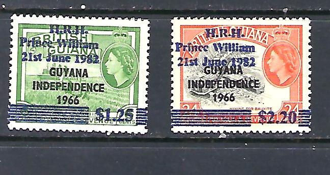 Guyana Scott #543 & 544A,  Unused Never Hinged