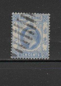 HONG KONG #94  1904  10c  KING EDWARD VII    USED F-VF