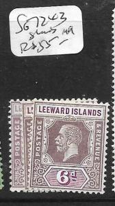 LEEWARD ISLANDS  (PP0105B) KGV  6D   SG 72 X 3   SHADES MOG