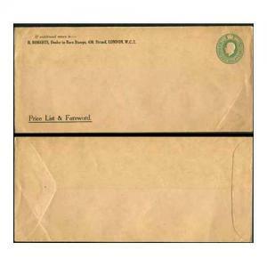 ES42 KGV 1/2d Green Envelope Stamp 29 Mint Size 100mm x 228mm R Roberts Stamp De