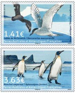 Scott #571-2 Penguins and Birds MNH