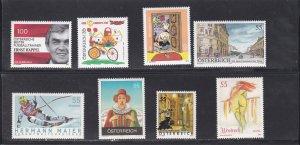 Austria # 1962-1965, 1967-1970, Complete sets, LH, 1/3 Cat.