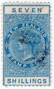 (I.B) New Zealand Revenue : Stamp Duty 7/-