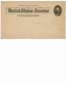 Scott #UX10 XF-unused postal card.