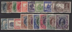 INDIA SG247/64 1937-40 DEFINITIVE SET USED