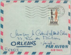 89807 - MADAGASCAR - Postal History - AIRMAIL COVER to FRANCE 1960 Olympic Games