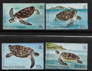 PITCAIRN ISLANDS,266-269, MNH, TURTLES