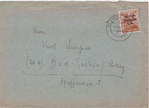 Germany Soviet Zone 1948 Leipzig to Bad Sachsa stamps cover  R20743