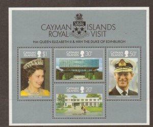 CAYMAN ISLANDS SGMS573 1983 ROYAL VISIT MNH