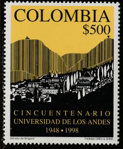 COLOMBIA 1146, UNIVERSITY OF THE ANDES, 50th ANNIV. MINT, NH. F-VF. (540)
