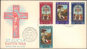 Saint Lucia, Worldwide First Day Cover, Religion