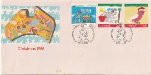 Australia Christmas 1988 Children's Drawings FDC Sc#1102-1104