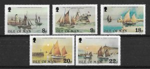 Isle Of Man MNH 184-8 Sailing Ships