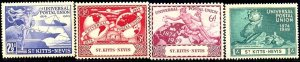 UPU, Universal Postal Union 75th Anniv, St. Kitts-Nevis SC#95-98 Mint set