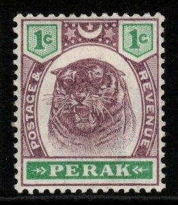 MALAYA PERAK SG66 1895 1c DULL PURPLE & GREEN MTD MINT