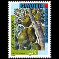 MAYOTTE 2002 - Scott# 183 Breadfruit Set of 1 NH