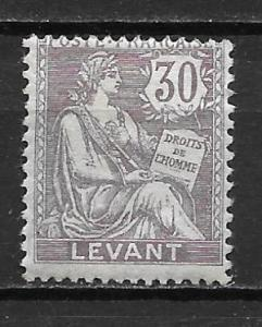 French Offices in Turkey 30 30c single MH
