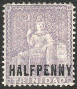 TRINIDAD-1879 ½d Lilac Sg 98 AVERAGE MOUNTED MINT V46205