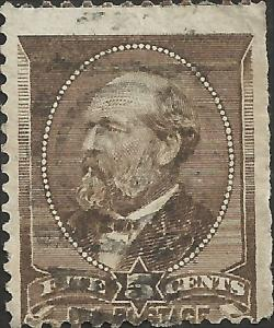 # 205 Yellow Brown Used FAULT James A. Garfield