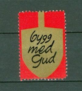 Sweden. Poster Stamp.  Salvation Army. Spade  Build With God