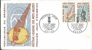 MUSIC - FDC COVER : SENEGAL 1966
