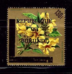 Burundi C35 MNH 1967 surcharge and overprint