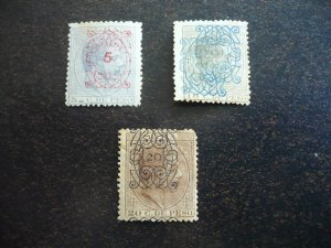 Stamps - Cuba - Scott# 115,116ab,117 - Mint Hinged - d Surcharged  Overprinted