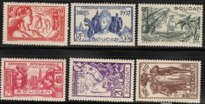 French Sudan #106-11 Mint Hinged 25% of SCV $12.00 **FREE Domestic SHIPPING**