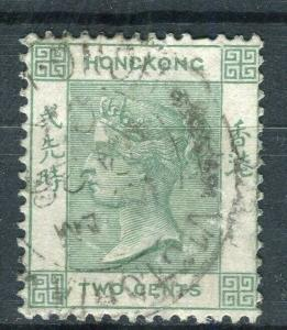 HONG KONG; 1900 early QV Crown CA issue fine used 2c. value