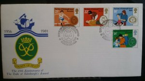 GB 1981 County of Devon Official Handstamp Envelope Duke of Edinburgh Awards