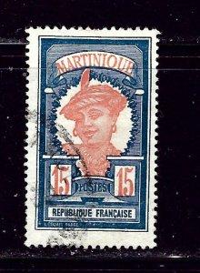 Martinique 72 Used 1928 issue