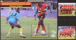 Angola 2006 Football Soccer Germany 2006 set of 2 + S/S MNH