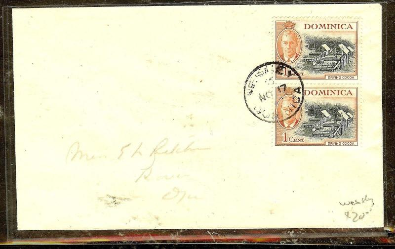 DOMINICA  (P2104B)  1952  KGVI  1CX2  WESSLEY