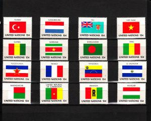 UNITED NATIONS 325-340 MNH 2019 SCOTT SPECIALIZED CATALOGUE VALUE $4.00