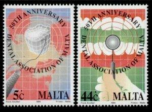 Malta 827-8 MNH Dental Instrument, Dental Association