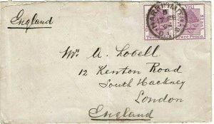 Orange Free State 1894 Harrismith cancel on cover to England