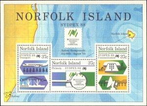 Norfolk Islands #439a, Complete Set, Souvenir Sheet Only, 1988, Never Hinged