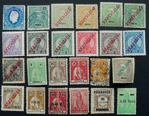 Packet, Angola, 24 Different, Scott  21 // 273