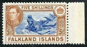 Falkland Is SG161c KGVI 5/- Fine M/Mint