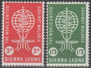 Sierra Leone #225-6  MNH F-VF  (SU119L)