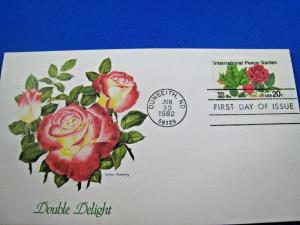 U.S. FIRST DAY COVER SETS - LOT of 6 -1982 - INTERNATIONAL PEACE GARDEN(FDC-20x)