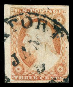 momen: US Stamps #11A Used Pos. 21L2L XF-SUP PF Cert