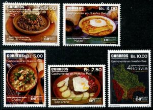 HERRICKSTAMP NEW ISSUES BOLIVIA Sc.# 1631-35 Traditional Foods