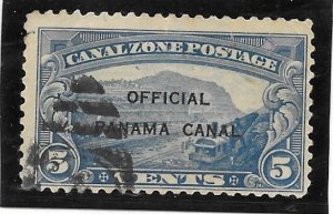 Canal Zone Scott #O3 Used 5c Official  2016 CV $25.00+