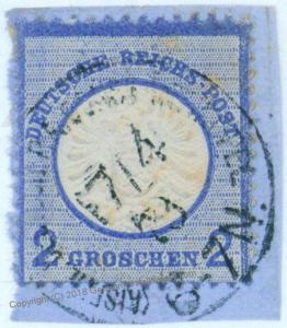 German Offices in Turkey V20 Forerunner Stamp 2 Gr Lg Shield 76211