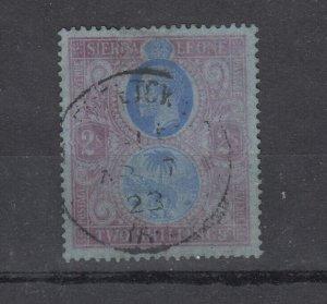 Sierra Leone KGV 1921 2/- Blue Dull Blue SG144 CDS J7545