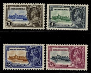 BRITISH HONDURAS GV SG143-146, SILVER JUBILEE set, LH MINT. Cat £21.