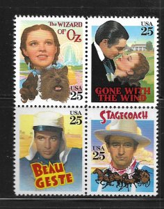 UNITED STATES, 2448A, MNH BLK OF 4, WIZARD OF OZ