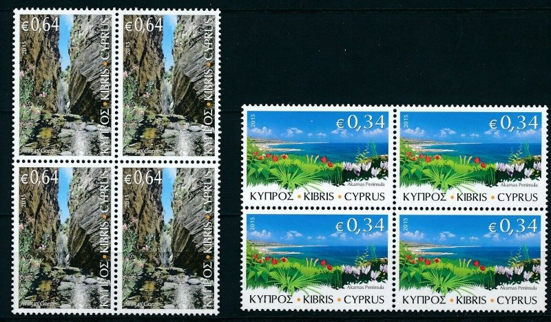 [I1914] Cyprus 2015 Landscapes good set in bloc of 4 stamps very fine MNH